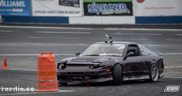 Gaelen Norman Drifting at Evergreen Speedway in his 180sx